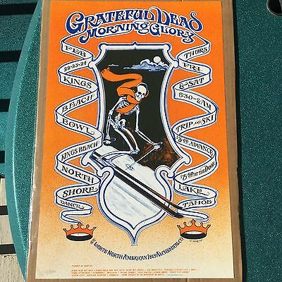 Bob Fried Grateful Dead Trip and Ski Poster RARE Lake Tahoe CA Kings Beach Bowl