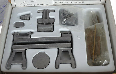 RARE MINI MACHINIST TOY PUZZLE - Metal Lathe and Drill Press to assemble LOOK!