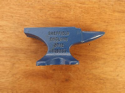 Record Miniature Solid Cast Iron Anvil Marked Sheffield England 0742 449066