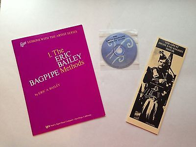 Bagpipe Methods Kit: Methods book, Eric Bailey and Tutor Bk/CD, Cherry Anderson