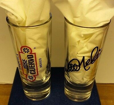 Jose Cuervo Tequila Willie Nelson Signature Shot Glass Mexico