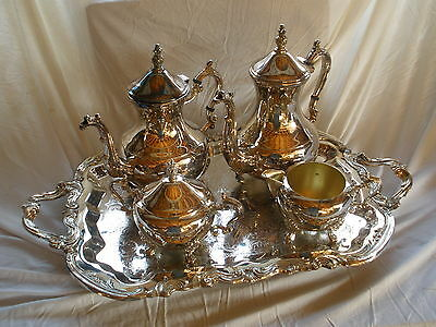 Antique, FB Rogers Silver Lady Margaret Coffee Set R2377/5