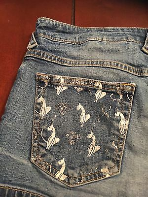 Baby Phat Distressed Low Rise Jean Denim Shorts Size 7