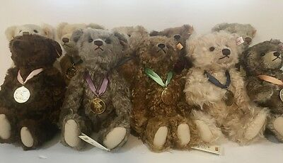 Steiff Bear of the Year Collection 2000-2009 With Tags by Danbury Mint