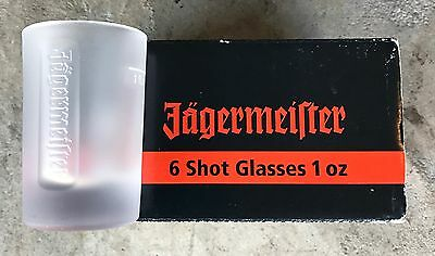JAGERMEISTER ~ 6 Pack - 1oz ~ NEW ~ FROSTED SHOT Glasses