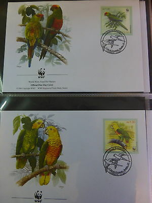 Wwf Official Wwf First Day Covers ~~Brazil  *brazil Parrots*   2001