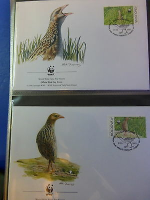 Wwf Official Wwf First Day Covers ~~Moldova  *corncrake*   2001