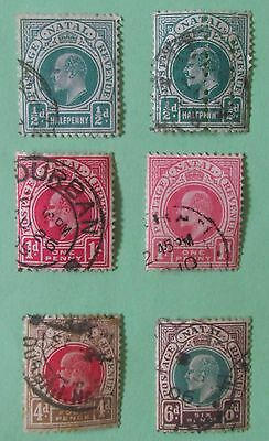 Natal Postage Stamps use 6 low values
