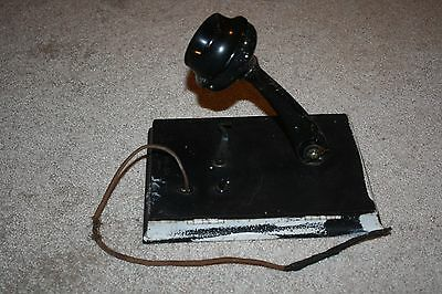 Antique Holtger Cabot Boston Wall Crank Telephone Mouthpiece Transmitter Part