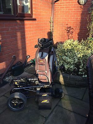 Powakaddy Freeway Golf Trolley, Battery, Charger, Bag and Umbrella holder
