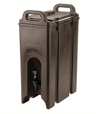 NEW 4.75 Gallon Brown Insulated Coffee Tea Hot Cold Catering Beverage Dispenser