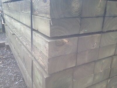Pressure Treated Timber Railway Sleepers 2.4m x 200mm x 100mm