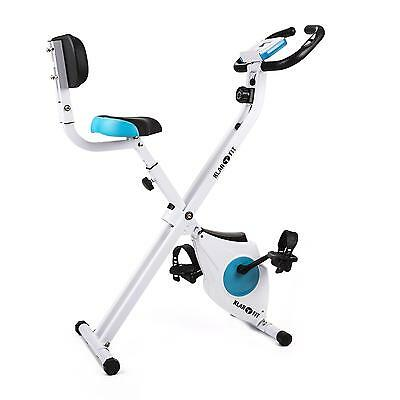 Excercise Bicycle Bike Cardio Training Strength Build Up Foldable White Home Gym