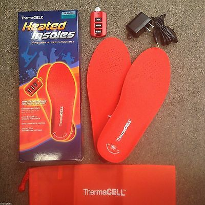 ThermaCell Therma CELL Heated Insoles Foot Warmer Xtra Xtra Large XXL THS01-XXL