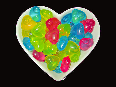 20 Reusable Ice Cube Heart Shaped pieces Dishwasher Safe Multicolour New
