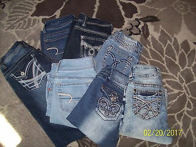 juniors lot skinny boot american eagle angels zco wall flower jeans  size 0 1