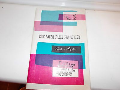 Passenger Train Facilities Eastern Region 1960 Booklet & pull out map of region