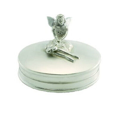Silver Tooth Fairy Box.  Hallmarked Sterling Silver Fairy Box Christening Gift