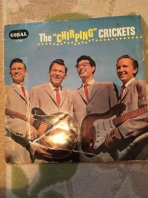 The Chirping Crickets  CORAL VOGUE LVS9081 LP 33rpm. RARE! Buddy Holly!!