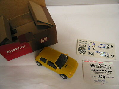 NINCO nscc 1984  Renault Clio limited edition 473/500 bnib  COLLECTABLE stunning