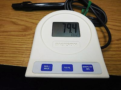 Dickson TM125 Tempature & Humidity Data Logger With Probe!