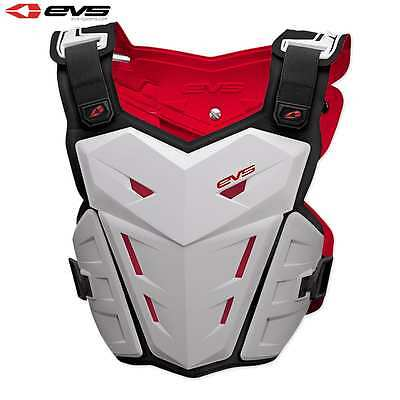 EVS F1 Motocross MX Enduro Chest Guard Adult White New Works With Neck Brace