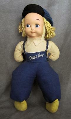 Vintage 50s' Promo DUTCH Boy Paint Advertising Cloth DOLL ~ Molded Plastic Face