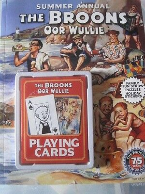The Boons/ Oor Wullie Annual with a pack of playing cards from 2010