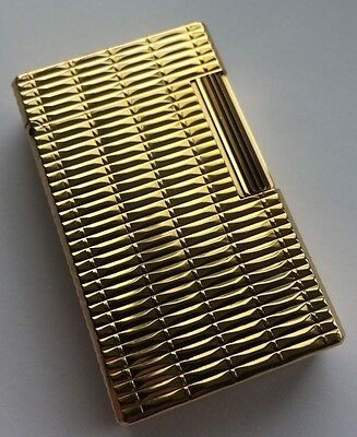 S.T.Dupont Boxed Gold Plated Ligne1(LARGE) Lighter -Overhauled & Mint Condition