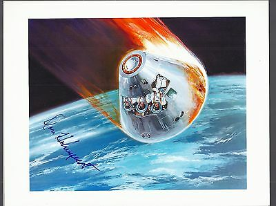 Nasa Autograph,hand Signed  Scientist Astronaut Don Holmquest-