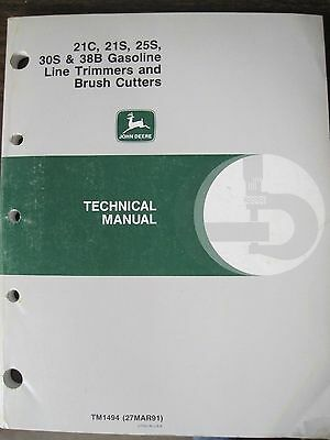 John Deere Technical Manual for Line Trimmers and Brush Cutters