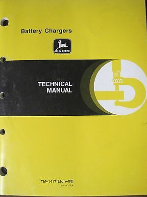 John Deere Technical Manual for Battery Chargers