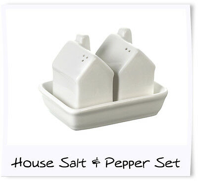 Ceramic house salt and pepper set - Stock clearance!!