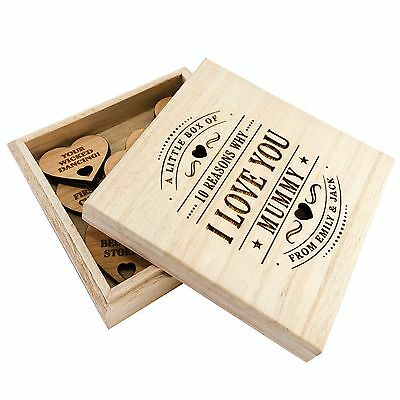 Personalised Birthday Gift 10 Reasons Why I Love My Daddy Dad Papa Wooden Box