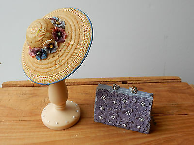 The Leonardo Collection Ornaments Ladies Day Hat, Stand & Bag