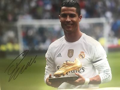 Cristiano Ronaldo Real Madrid Original Hand Signed Photo 12x8 With COA