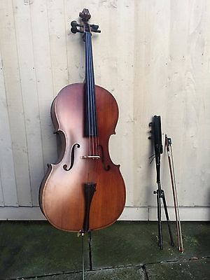 Full Size Cello with Bow, Case and Music Stand