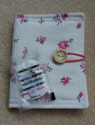 Fabric Sewing Needle Book & Mini Sewing Kit - Hand-Crafted - New