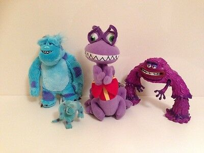 Disney Monsters University Art, Sully And Randall Plush Soft Toy Bundle