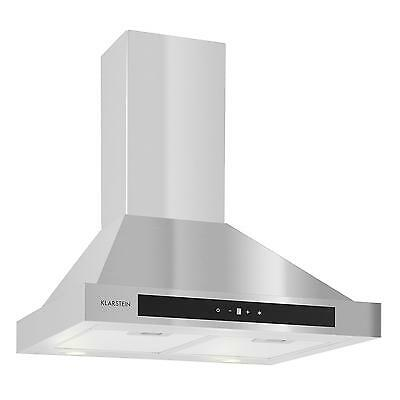 New Extractor Cooker Hood Top Chimney Kitchen Steel Timer Touch Glass Energy B