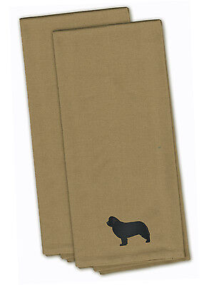 Newfoundland Tan Embroidered Kitchen Towel Set of 2