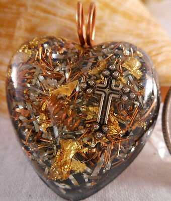 Orgone Pendant Experience Powerful Crystal Healing - Cross
