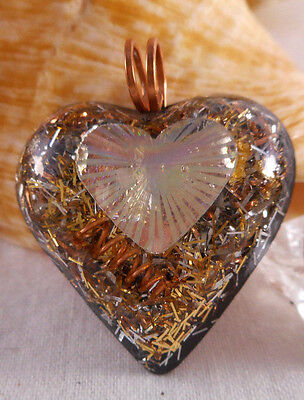 Orgone Pendant Experience Powerful Crystal Healing - Hologram Heart