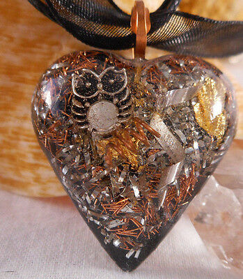 Orgone Pendant Experience Powerful Crystal Healing - Owl