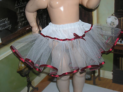"""White Net Petticoat  22-23"""" Doll clothes fits Ideal Saucy Walker or Pedigree"""