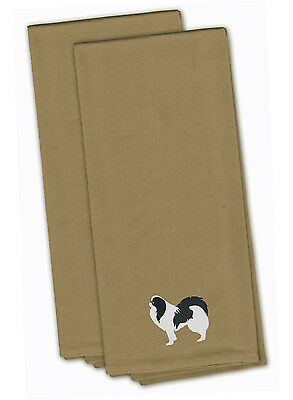 Japanese Chin Tan Embroidered Kitchen Towel Set of 2