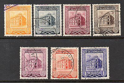 Venezuela: Very Nice Selection of 7- 1953 & 1955 Used Airmail Issues