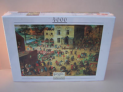Puzzle Nathan 4000 pièces NEUF collection grands peintres BRUEGEL rare