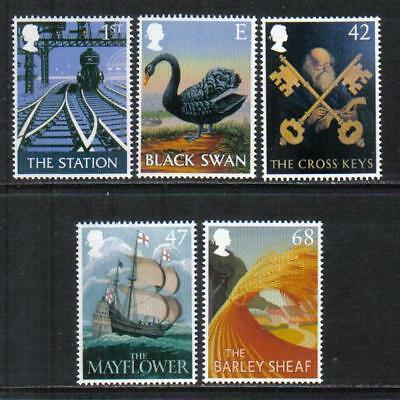 Great Britain 2003 Pub Signs--Attractive Art Topical (2148-52) MNH