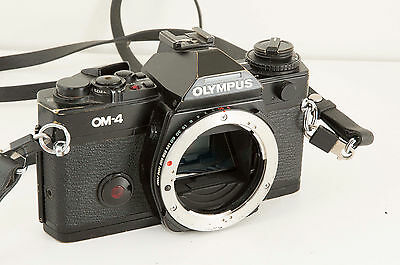 Olympus OM-4 35mm SLR Film Camera Body Only in excellent condition & accessories